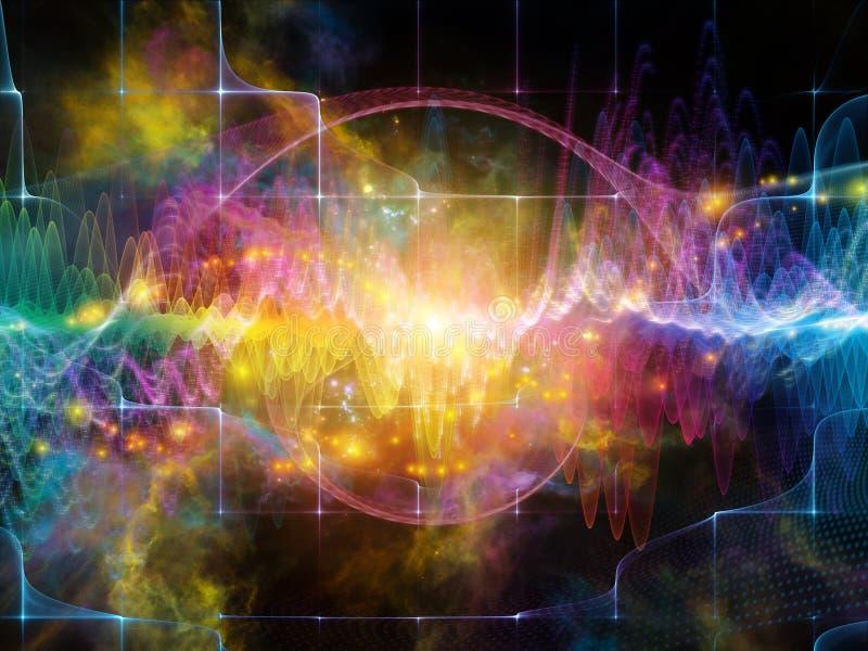 Fonte di onda sonora illustrazione vettoriale