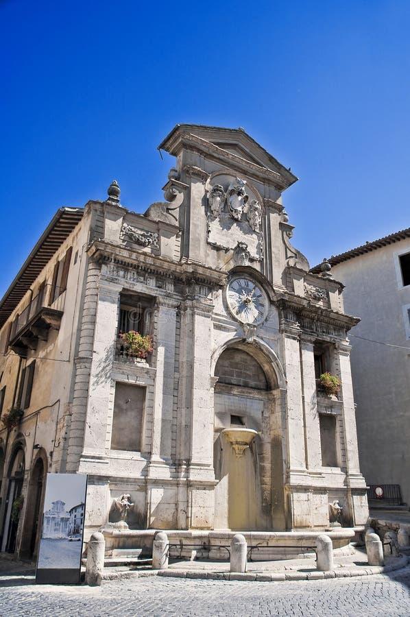 Fonte di Piazza. Spoleto. Umbria. royalty free stock photo