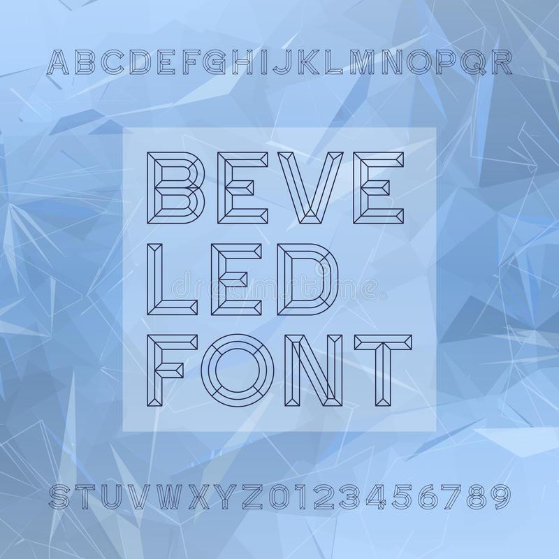 Fonte di vettore di alfabeto dello scalpello Scriva le lettere ed i numeri a macchina royalty illustrazione gratis
