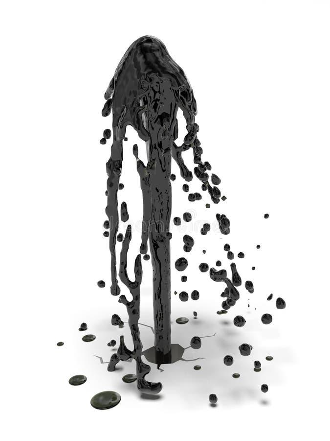 Fonte do óleo ilustração do vetor
