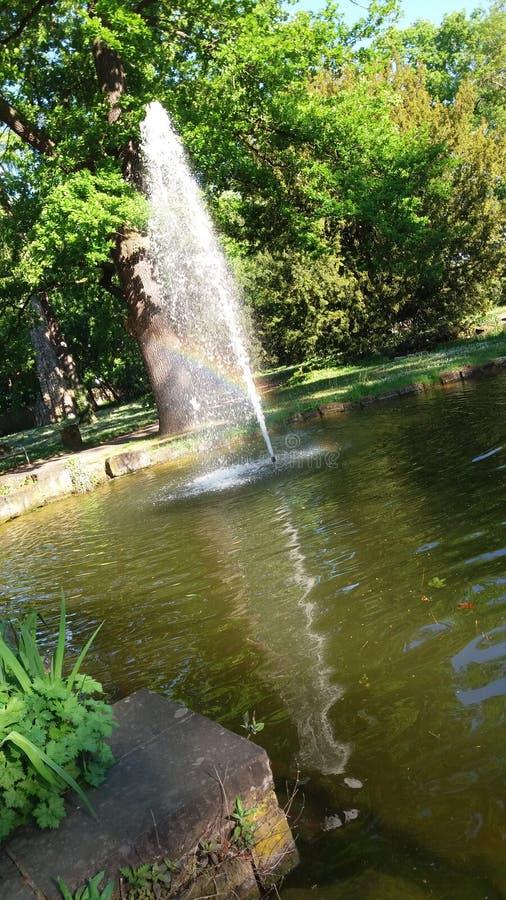 Fonte do arco-íris imagem de stock