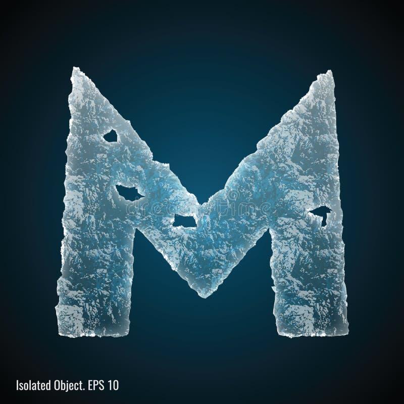 Fonte do gelo da letra M ilustração royalty free