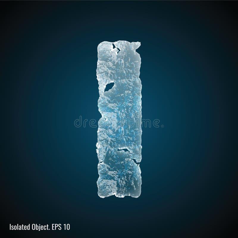 Fonte do gelo de letra mim ilustração do vetor