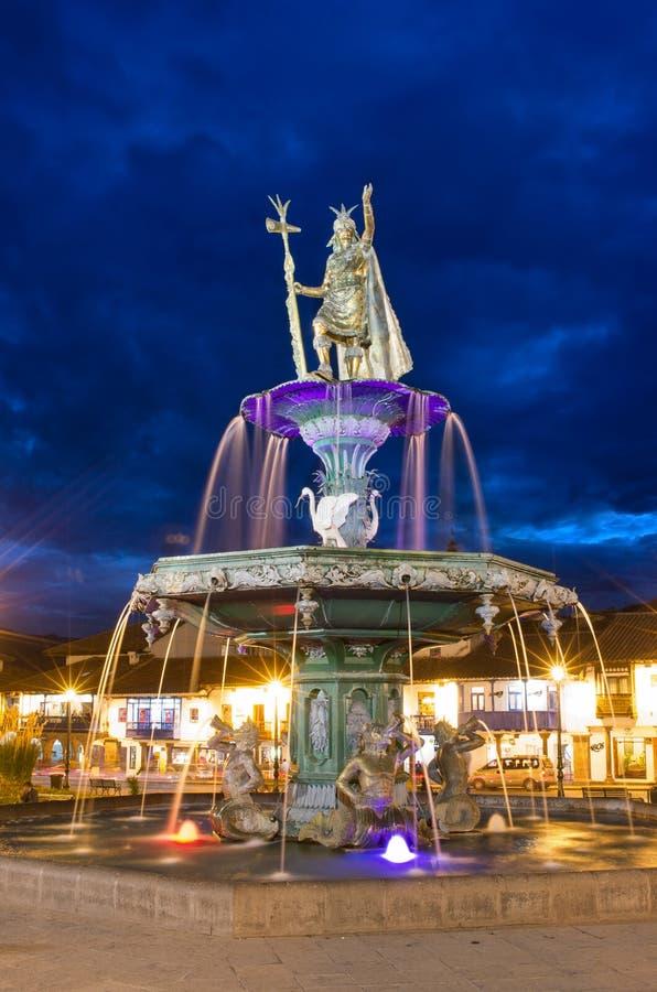 Fonte do Inca em Cusco, Peru foto de stock