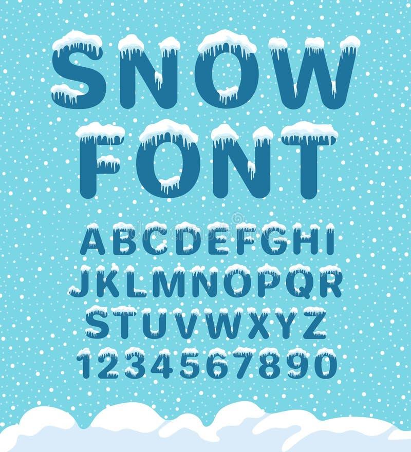 Fonte do inverno da neve ilustração royalty free