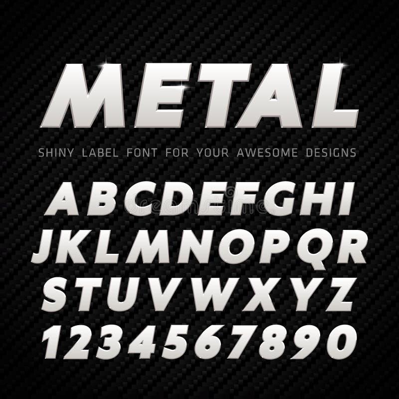 Fonte do metal do vetor ilustração do vetor
