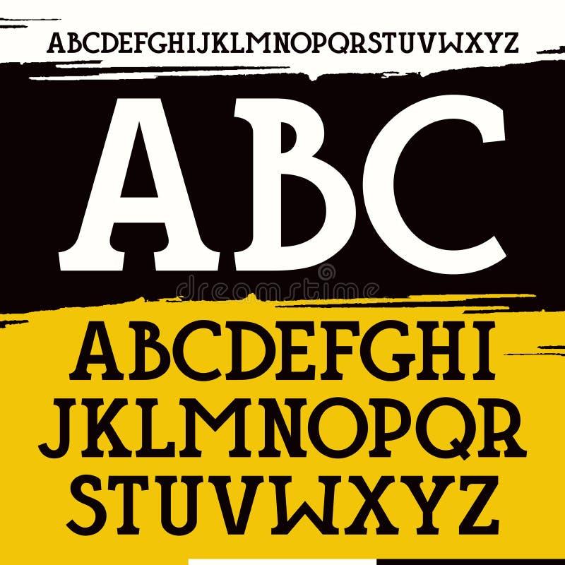 Fonte do serif da laje ilustração royalty free