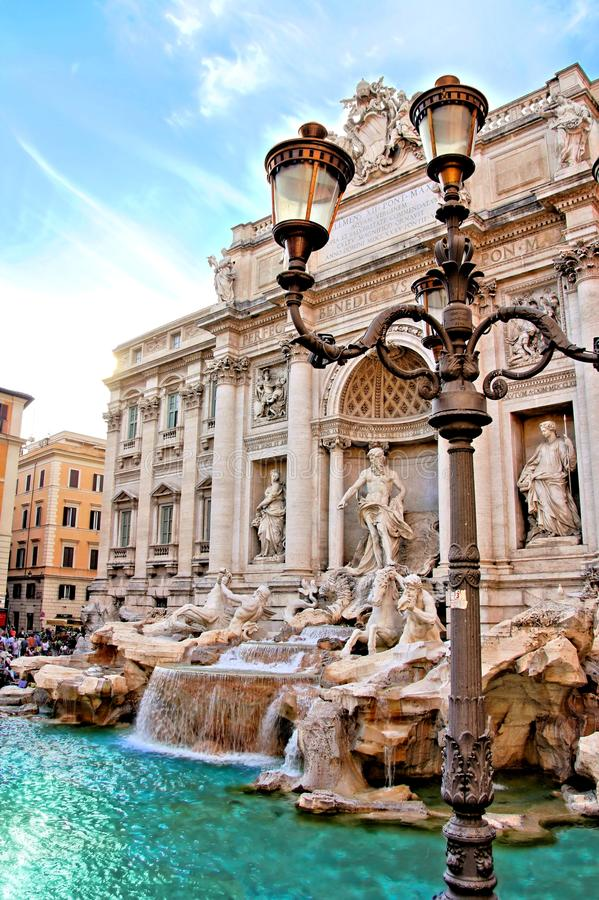 Fonte do Trevi de Roma fotografia de stock royalty free