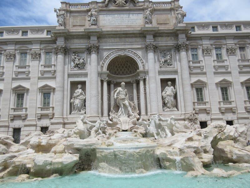 Fonte do Trevi em Itália, Roma foto de stock