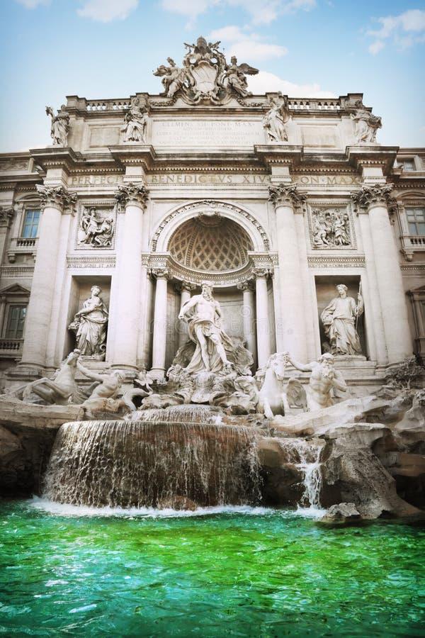 Fonte do Trevi, Roma fotografia de stock