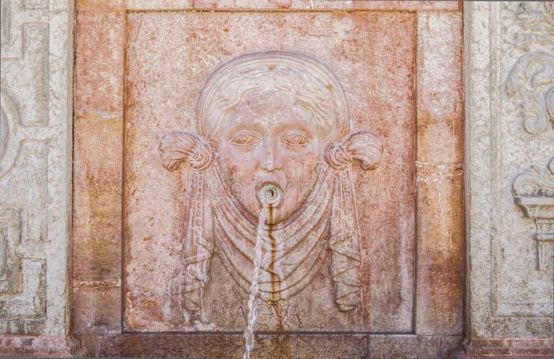 Fonte dos elementos, a água, Antequera, Espanha fotos de stock