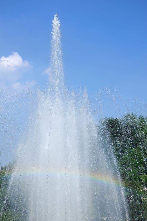fonte e arco-íris fotografia de stock
