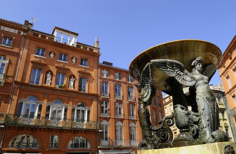 Fonte em Toulouse fotos de stock