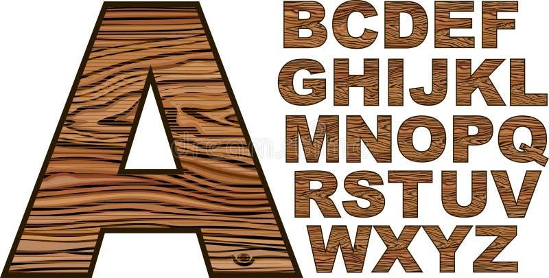 Fonte en bois illustration stock