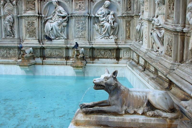 Fonte Gaia, Siena stock photography