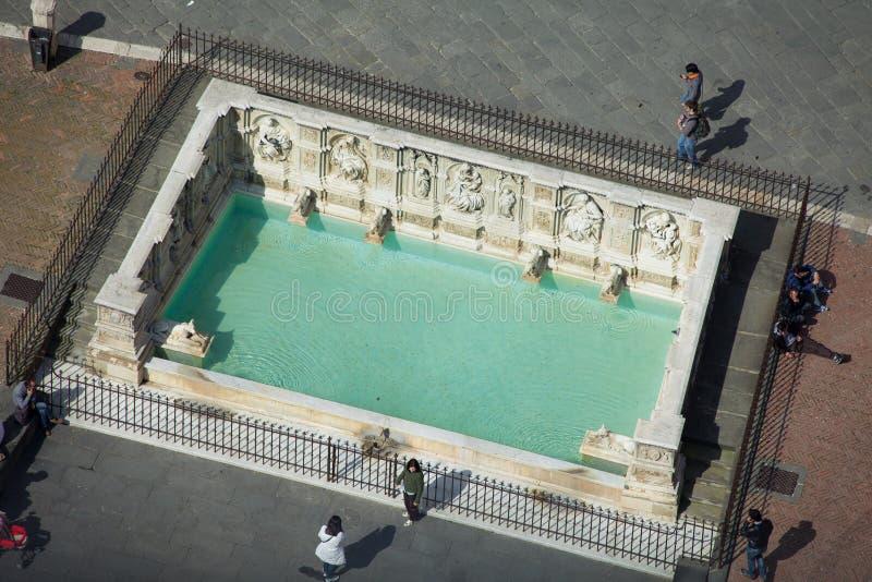 Fonte Gaia Siena Włochy fotografia royalty free
