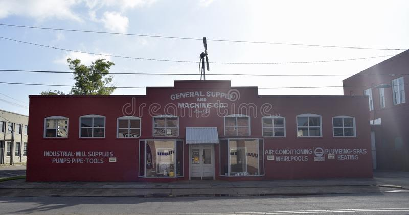 Fonte geral e oficina de construção mecânica, meridiano, Mississippi imagem de stock