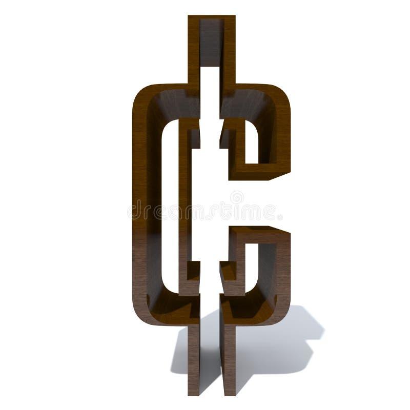 Fonte marrom de madeira conceptual ilustração royalty free