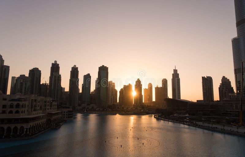 Fonte musical em Dubai imagem de stock royalty free