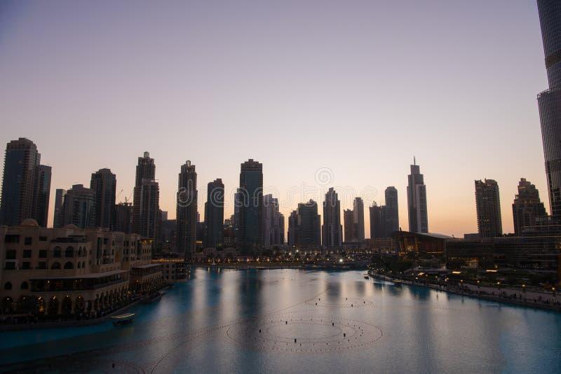 Fonte musical em Dubai fotografia de stock
