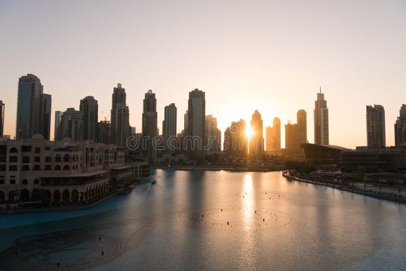 Fonte musical em Dubai foto de stock royalty free