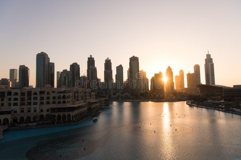 Fonte musical em Dubai fotografia de stock royalty free