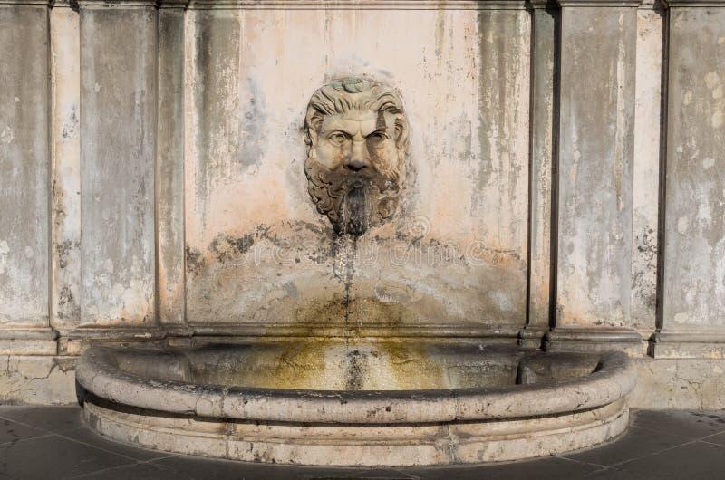 Fonte no pátio dos museus do Vaticano imagens de stock