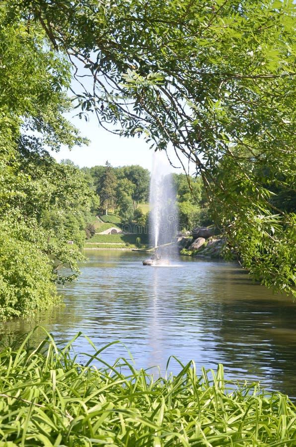 Fonte no parque de Sofiyivsky em Uman foto de stock royalty free