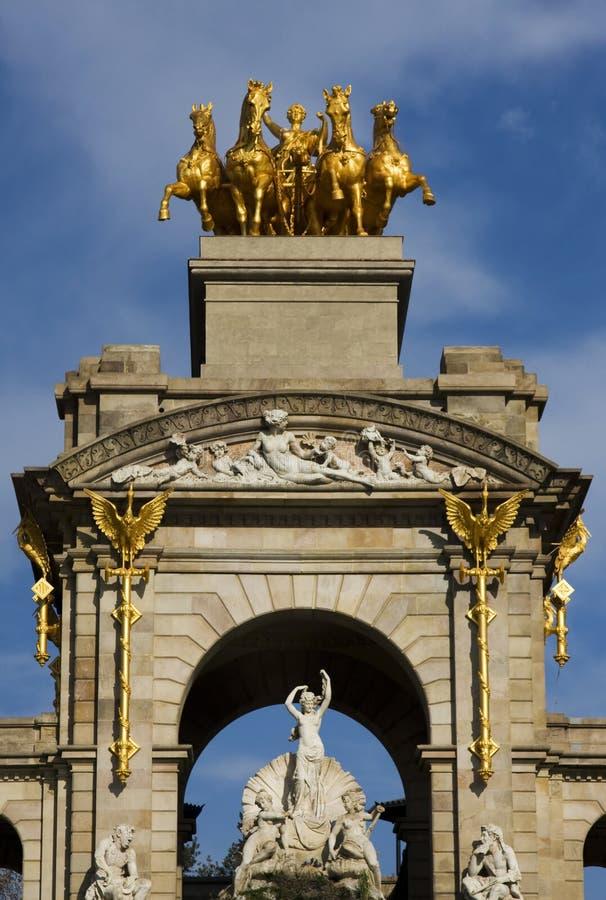 Fonte no parque do ciutadella em Barcelona imagem de stock royalty free