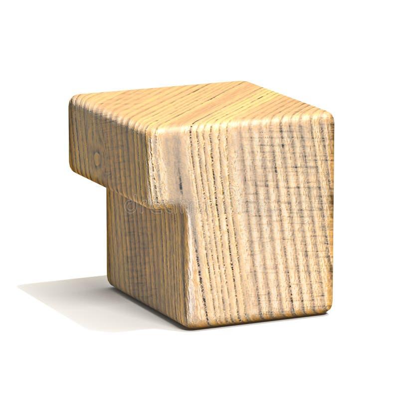 Fonte numero di legno solida 1 del cubo UN 3D royalty illustrazione gratis