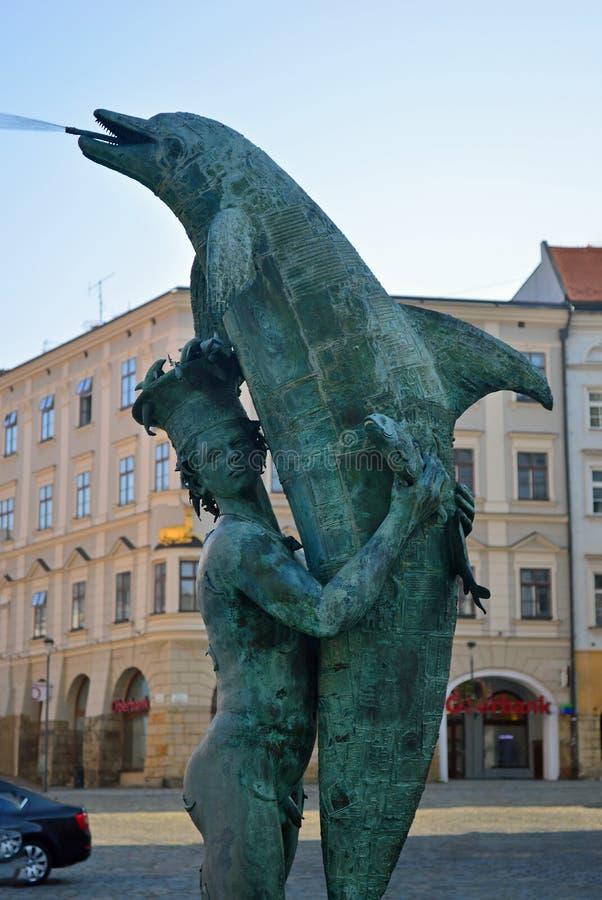 Fonte Olomouc República Checa do Arion foto de stock