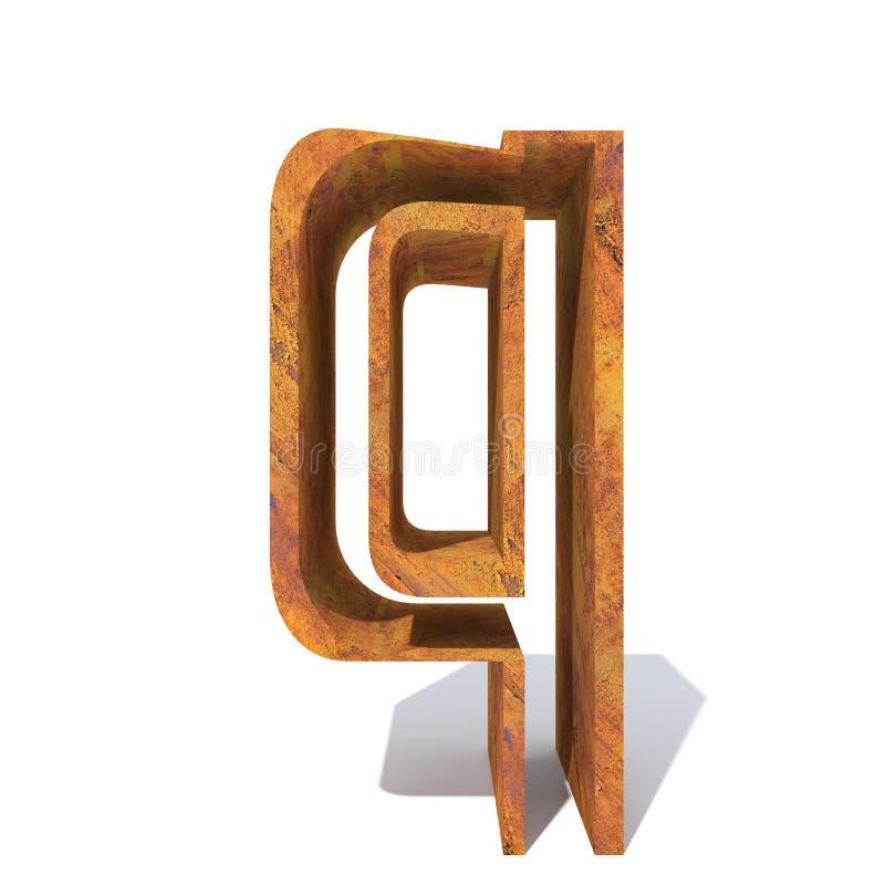 Fonte oxidada velha do metal ilustração royalty free