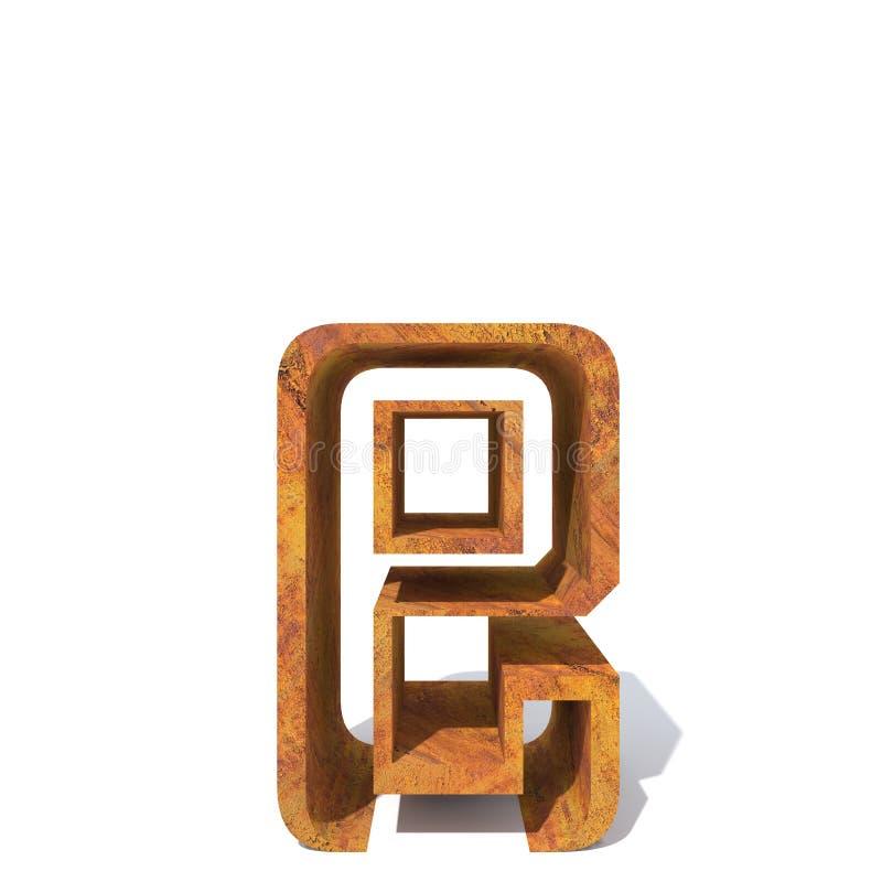 Fonte oxidada velha do metal ilustração do vetor