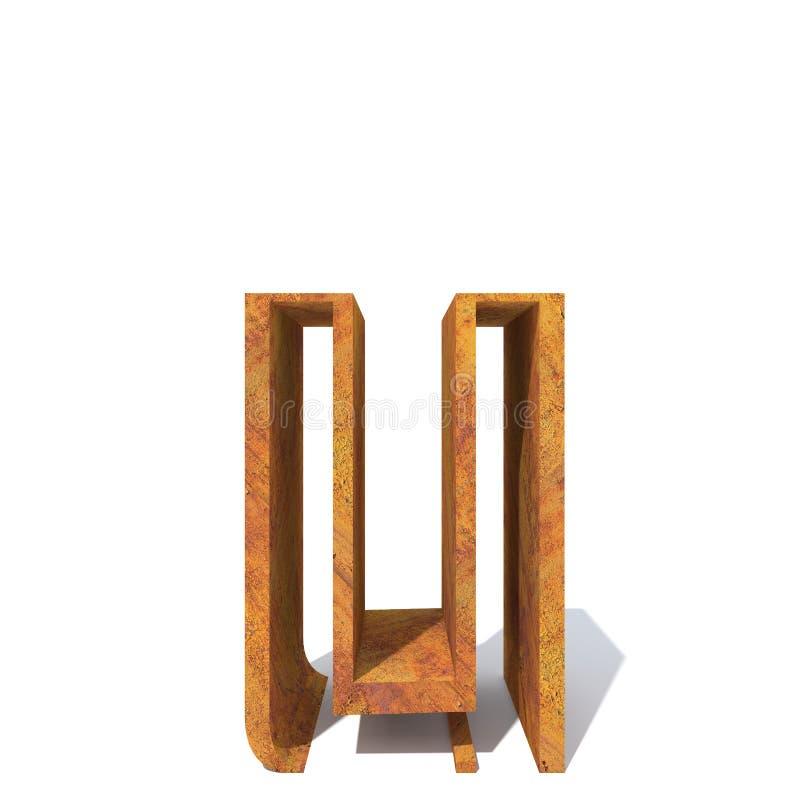 Fonte oxidada velha do metal ilustração stock