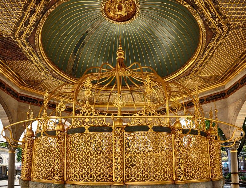 Fonte para abluções rituais em Hagia Sophia, Istambul fotografia de stock royalty free