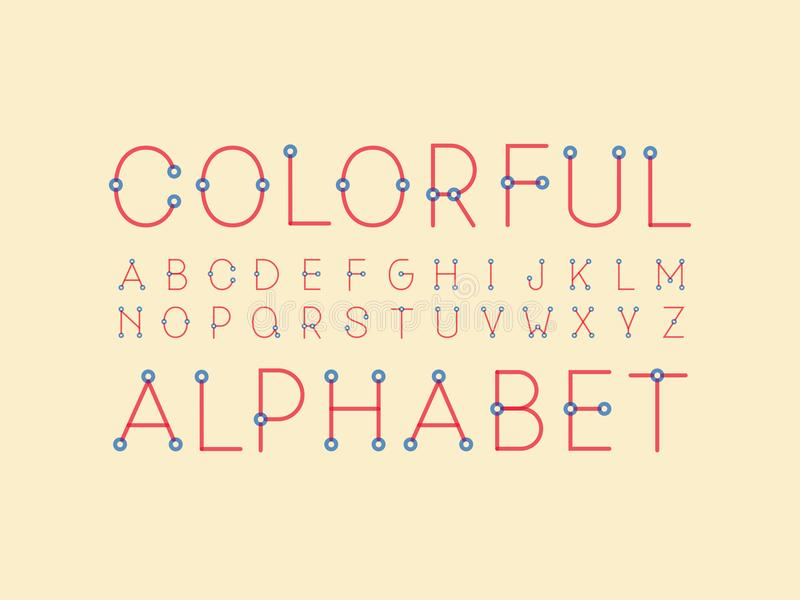Fonte regolare variopinta Alfabeto di vettore illustrazione di stock
