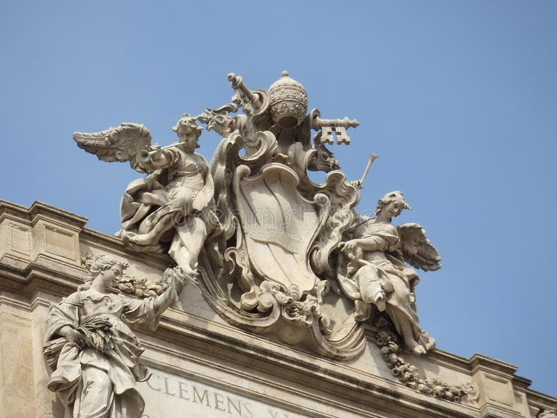 Fonte Roma do Trevi imagem de stock