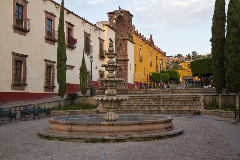 Fonte in San Miguel de Allende immagine stock