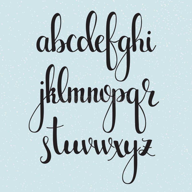 Fonte scritta a mano del corsivo di calligrafia di stile della spazzola royalty illustrazione gratis