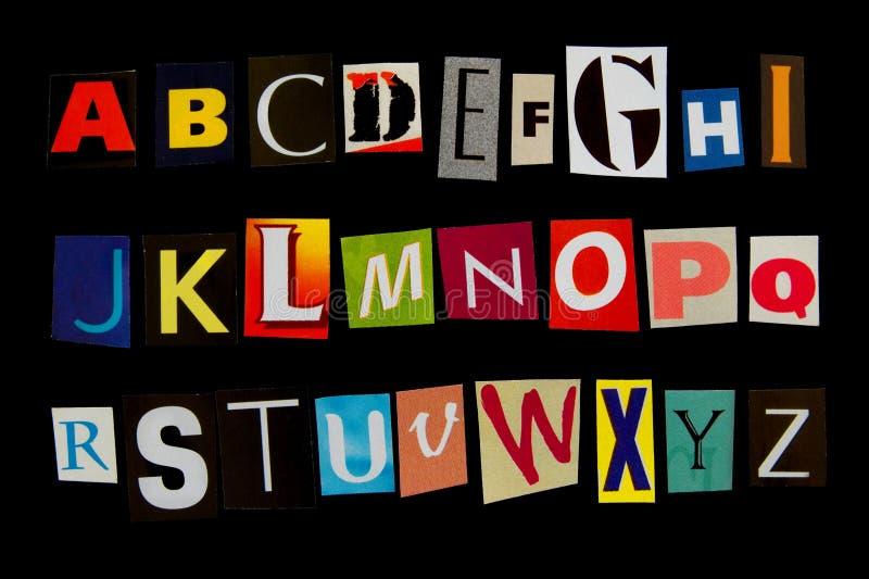 Fonte tipografica fotografia stock
