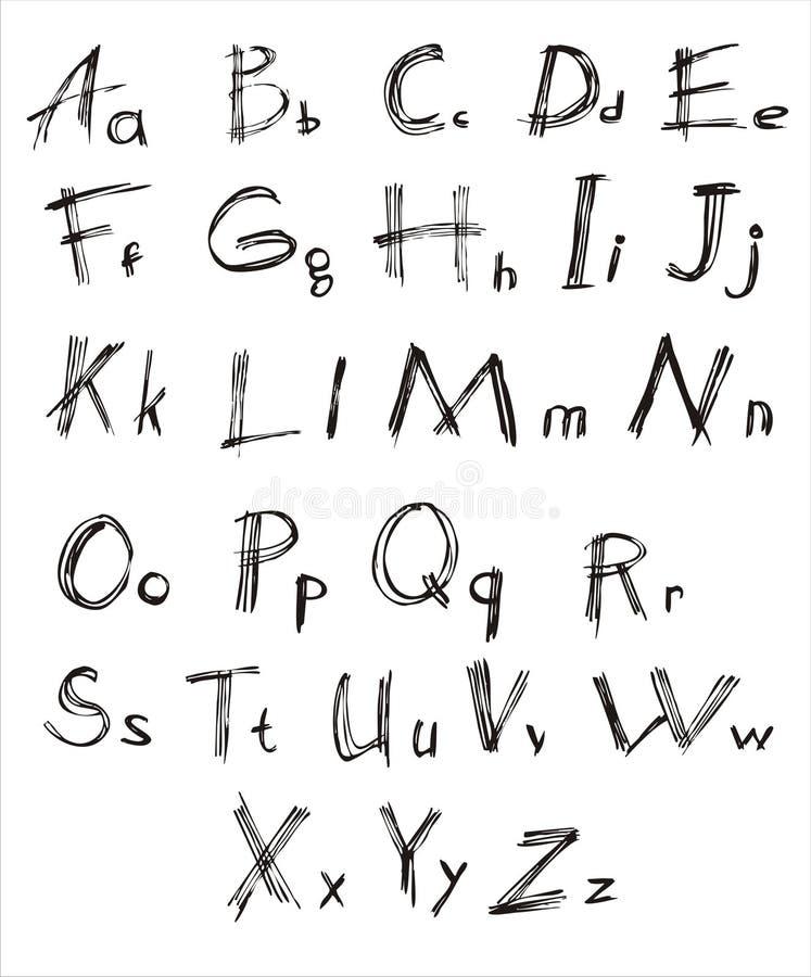 Fonte tipografica immagini stock