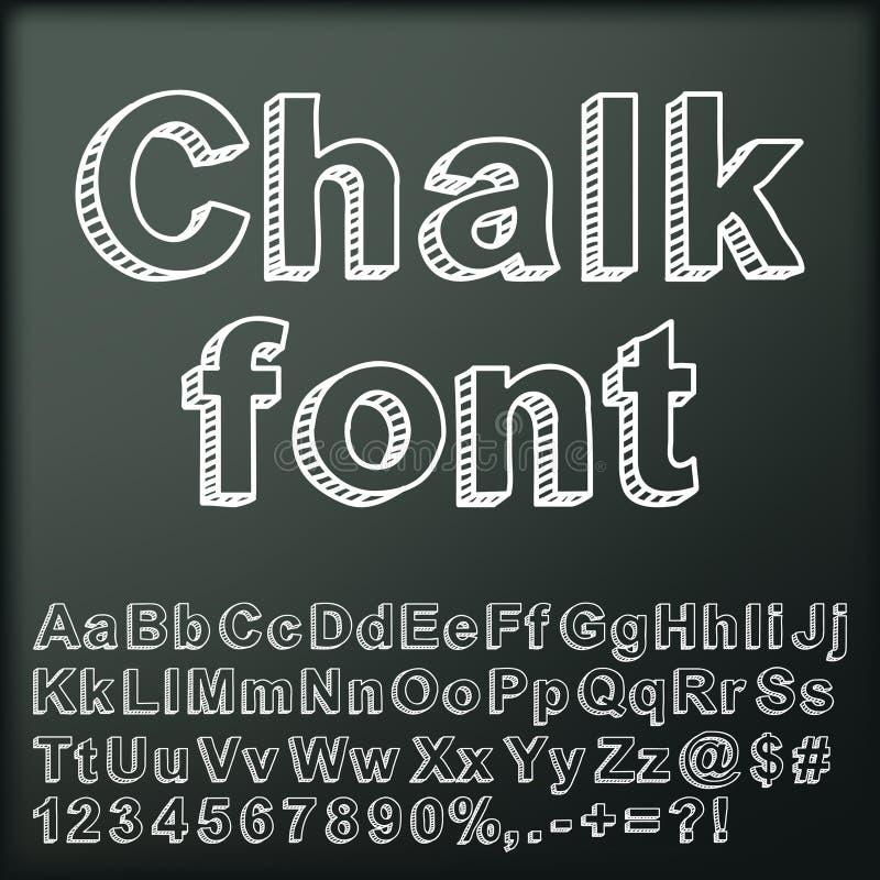 Fonte tipografica astratta del gesso