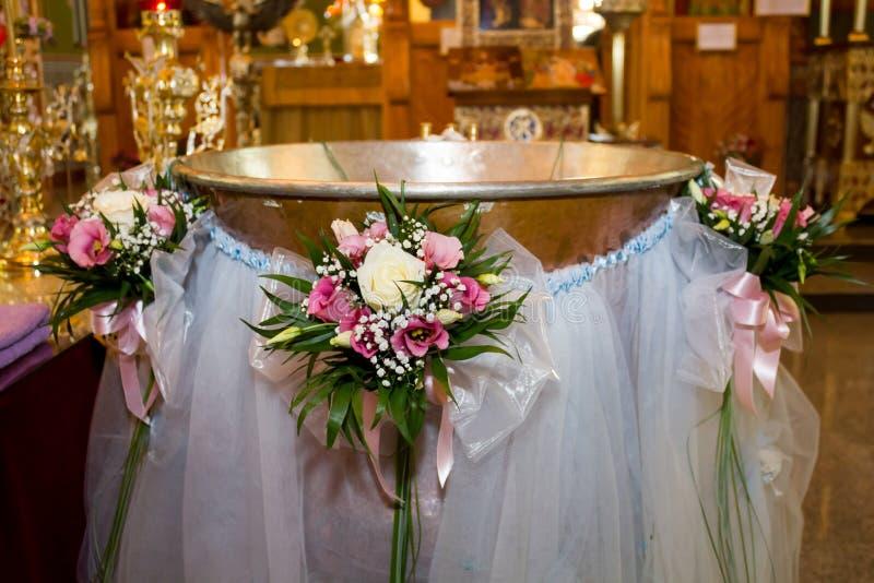 Fonte tipografica di battesimo immagine stock