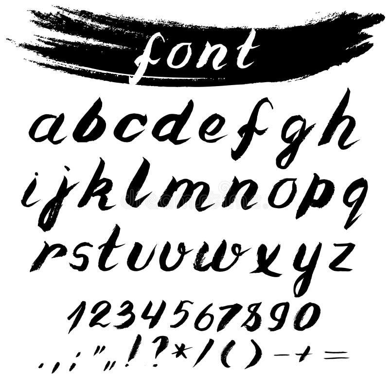Super Fonte Tipografica Di Vettore Iscrizione Inchiostro Di Scrittura  YB86