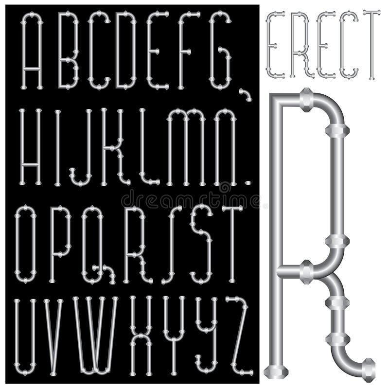 Fonte tipografica eretta royalty illustrazione gratis