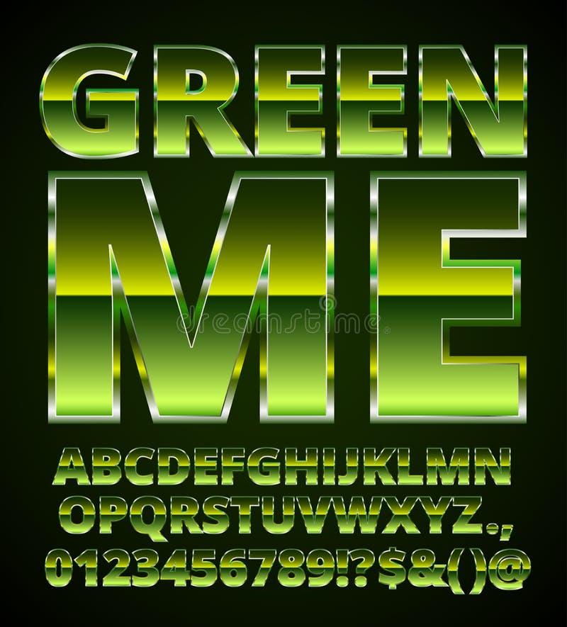 Fonte verde do metal ilustração royalty free