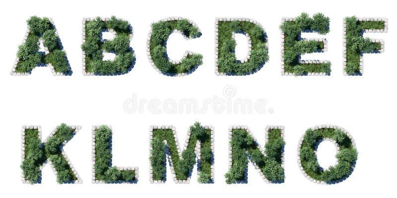 Fonte verde do parque com beira de avaliação em unidades cúbicas cinzenta imagens de stock royalty free