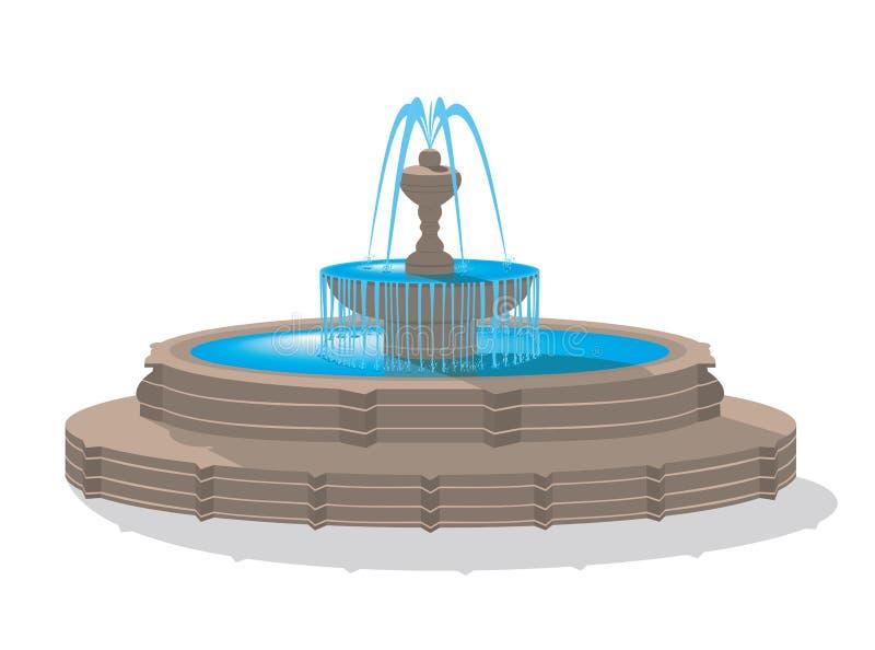 Fontein vector illustratie