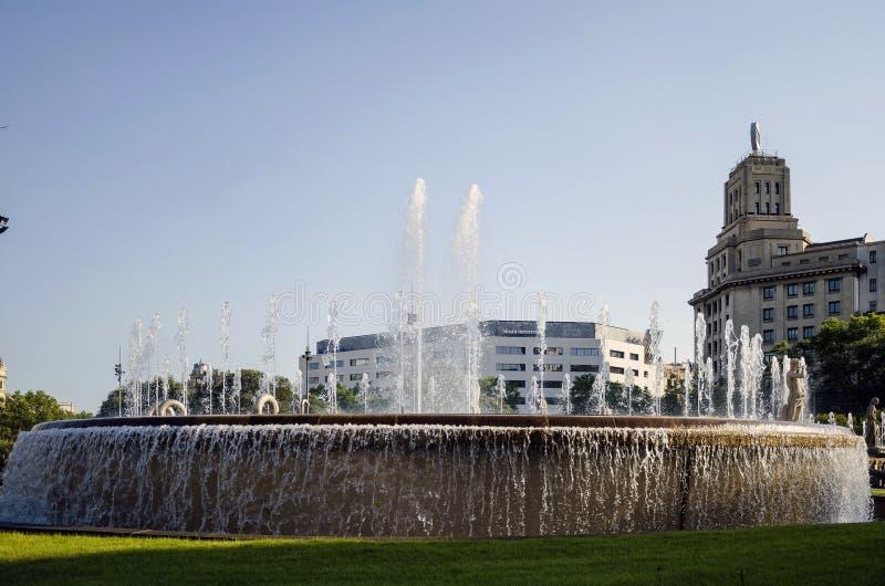 Fontein in Barcelona royalty-vrije stock foto's