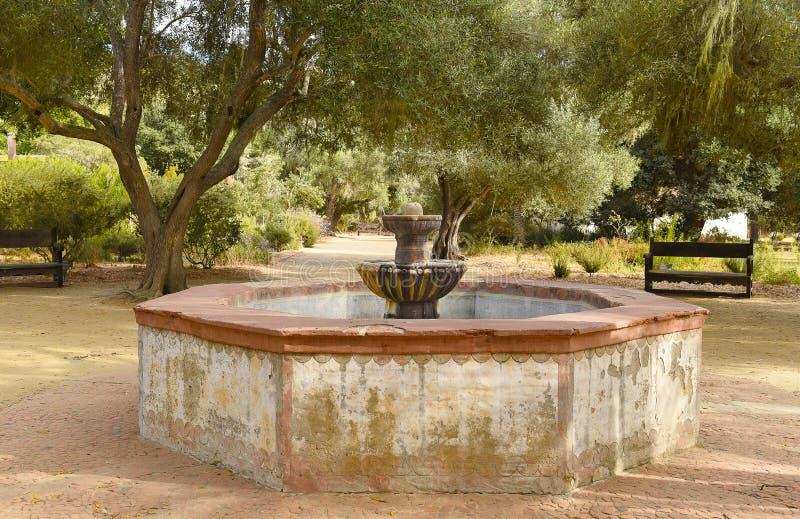 Fontein bij Mision-La Purisima royalty-vrije stock foto